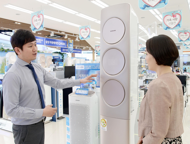 삼성 디지털프라자, 5월 '가족사랑 선물전'으로 매출 상승 에어컨 10대 중 무풍에어컨 9대나 팔려, 전년비 120% 이