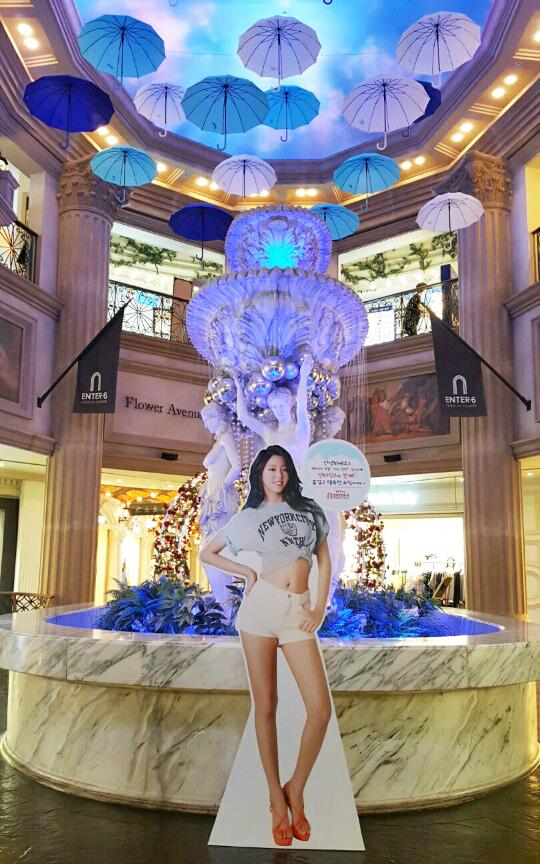 패션쇼핑몰 엔터식스, 여름을 맞아 공식모델 AOA 설현 등신대 4종 선보여